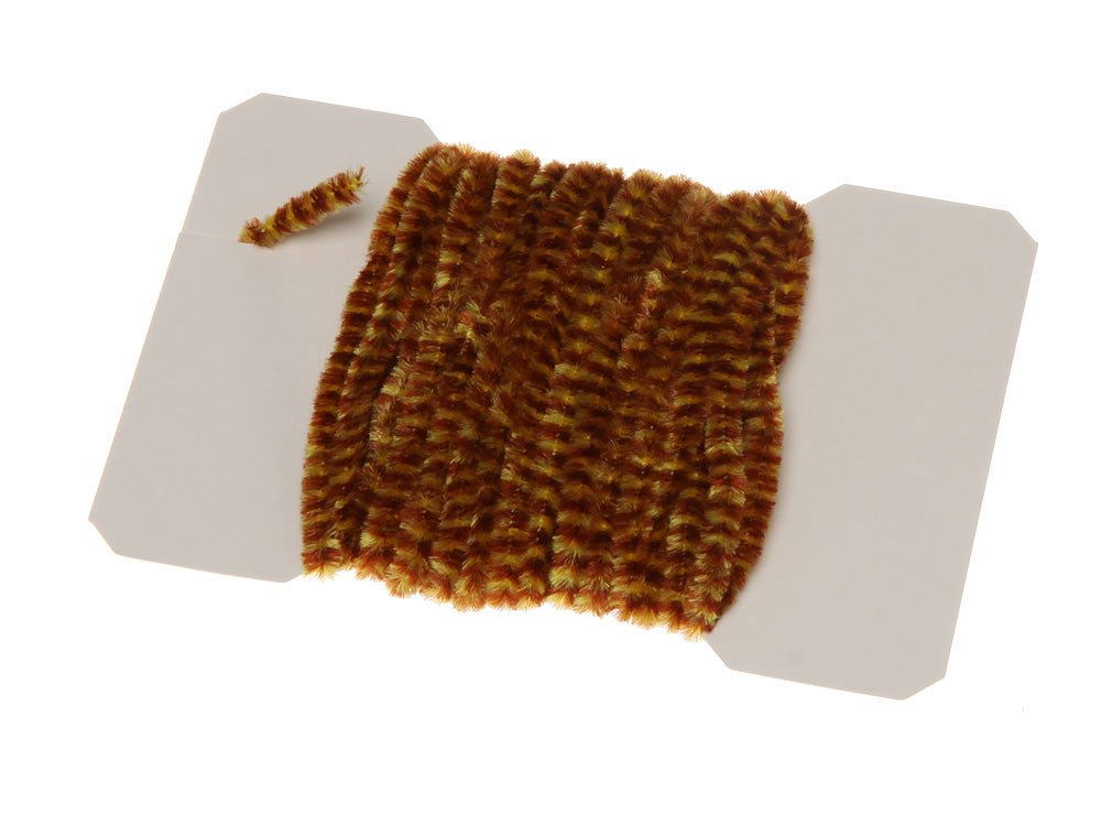 Image of   Varigated chenille medium - brown/yellow