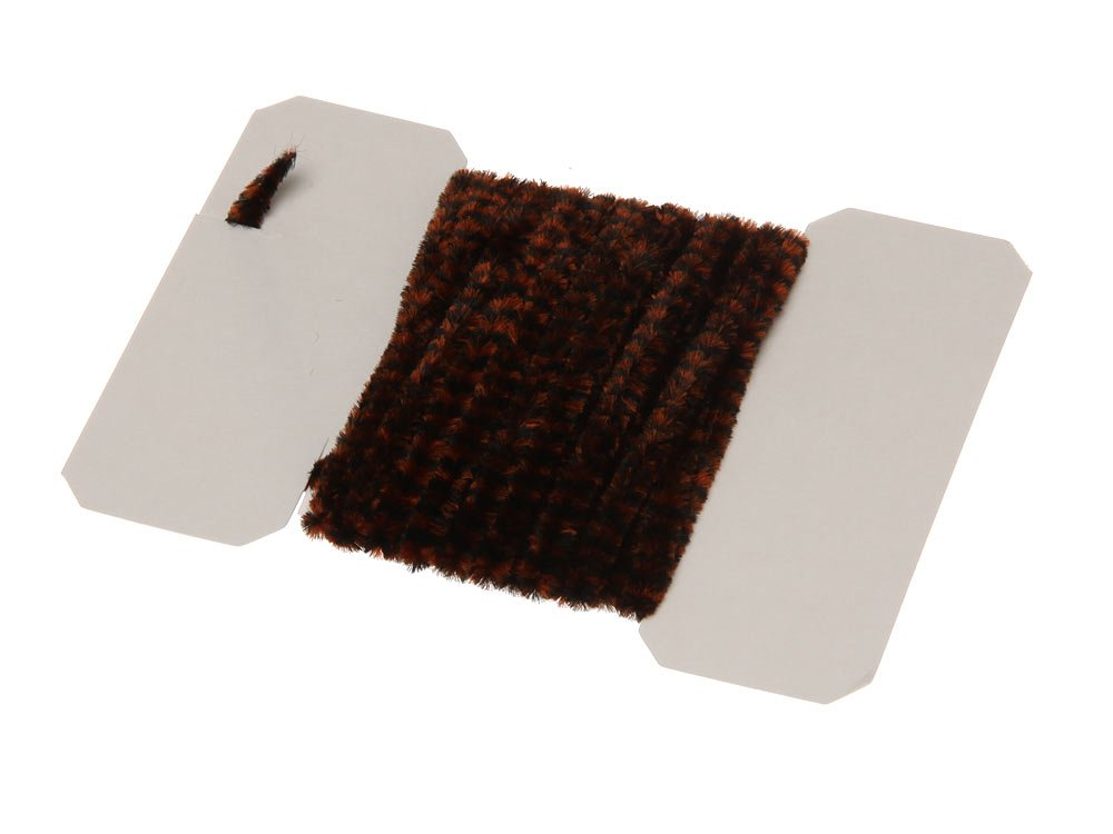 Image of   Varigated chenille medium - black/brown