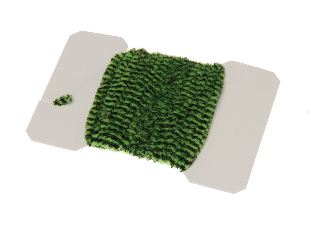 Image of   Varigated chenille medium - chartreuse/black