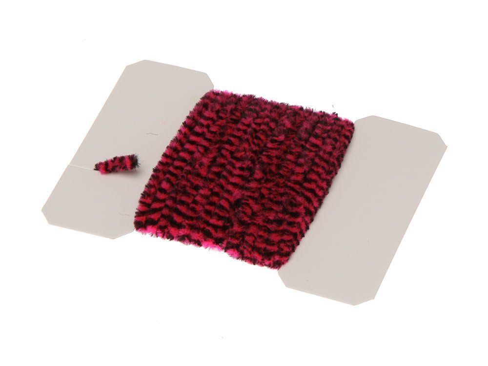 Image of   Varigated chenille medium - fuchsia/black
