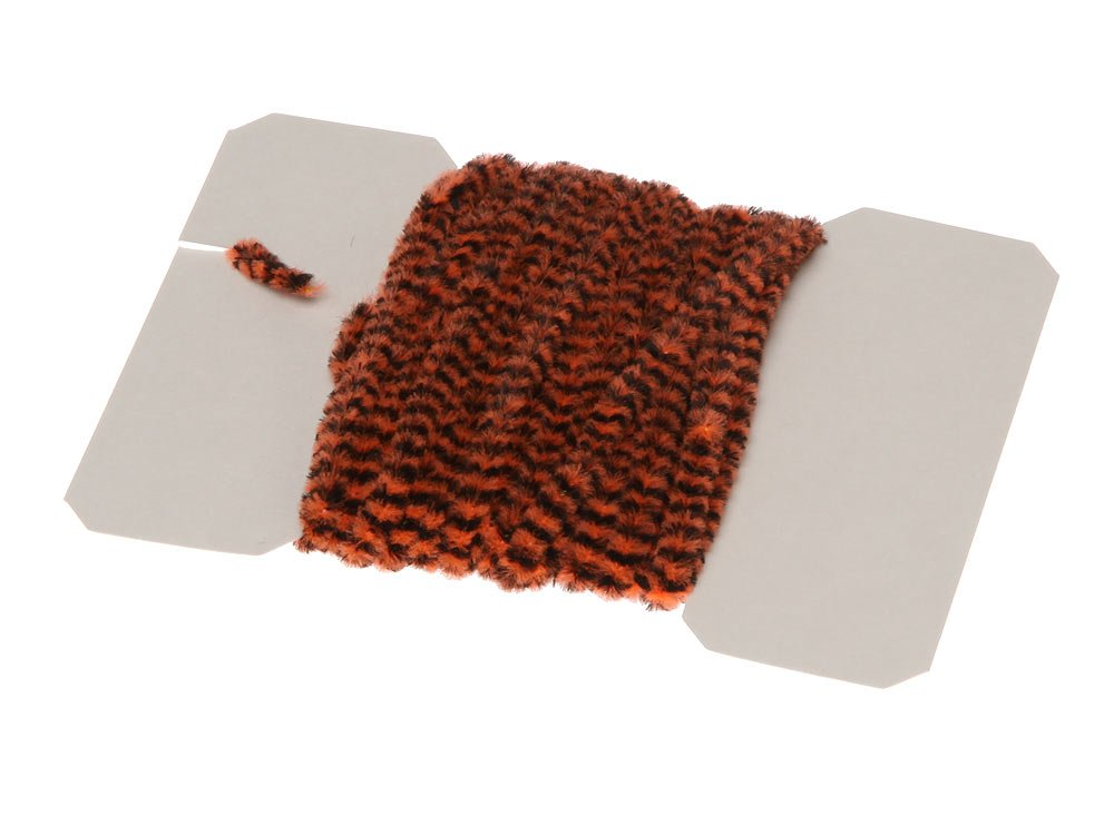 Image of   Varigated chenille medium - fl. orange/black