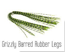 Grizzly Barred Rubber Legs